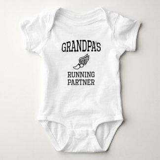 Grandpa's Running Partner Baby Bodysuit