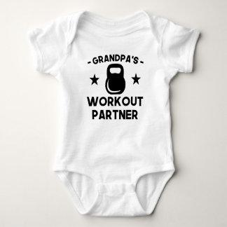 Grandpa's Workout Partner Baby Bodysuit