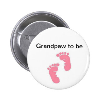 Grandpaw to be 2 inch round button