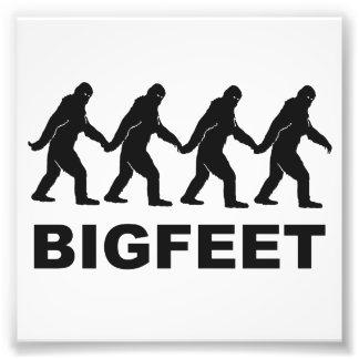Grands pieds de Bigfoot Impressions Photographiques