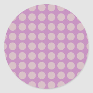 Grands points - lilas sticker rond