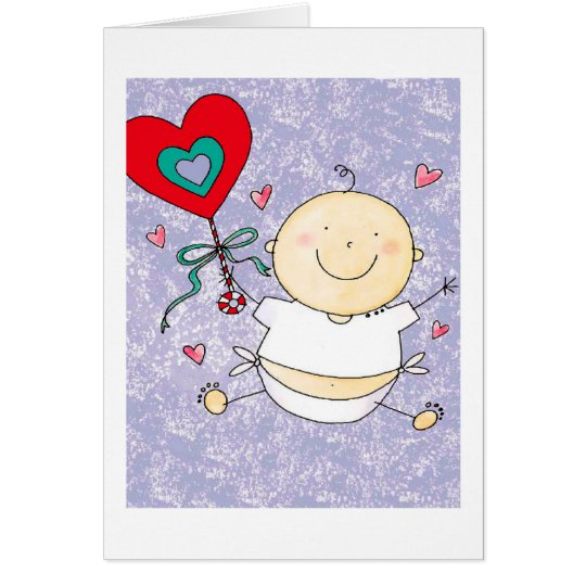 Grandson 1st Valentine's Day - Note Card