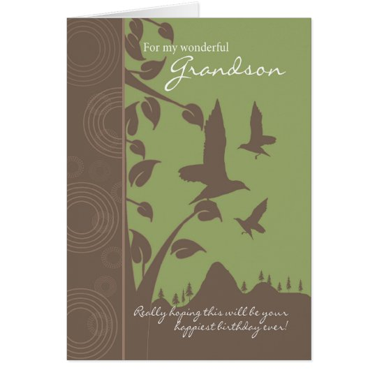 grandson birthday card - birthday greeting card fo