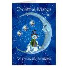 grandson christmas card with snowman
