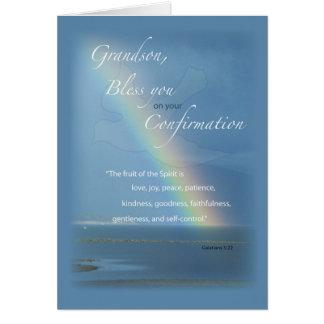 Grandson Confirmation Rainbow Congratulations Greeting Card