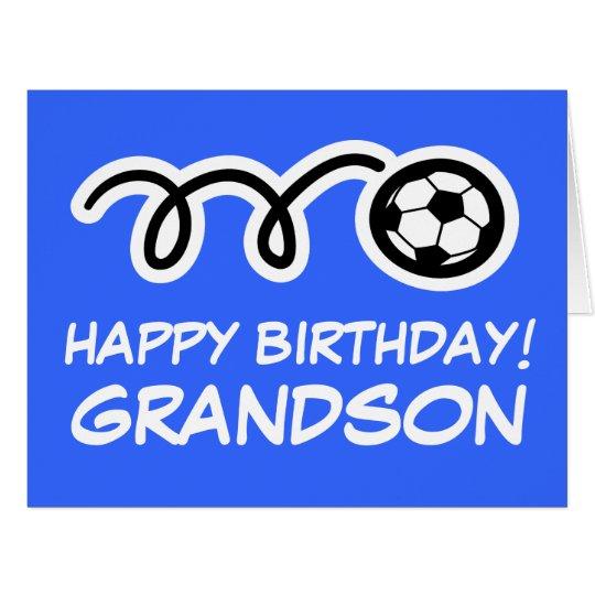Grandson Happy Birthday soccer sport greeting card
