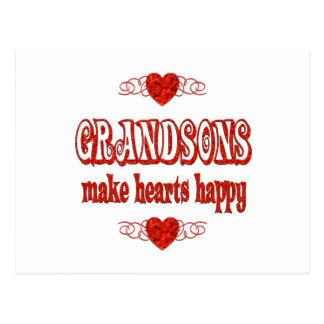Grandson Hearts Postcard