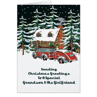 Grandson & His Girlfriend Christmas Greetings Card