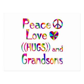 Grandson Hugs Postcard