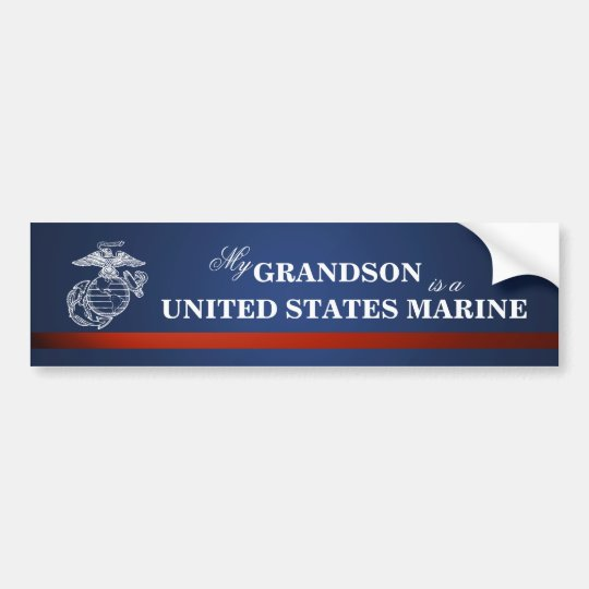 Grandson is a Marine Bumper Sticker