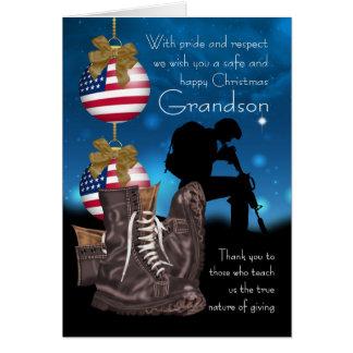 Grandson Military Christmas Greeting Card