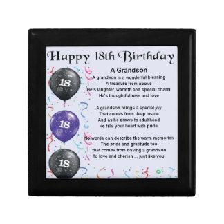 Grandson Poem - 18th Birthday Gift Box
