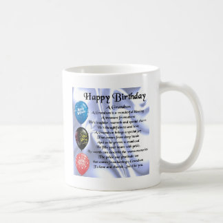Grandson Poem  -  Happy Birthday Coffee Mug