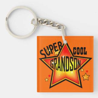 Grandson Super Cool Star Funny Keychain