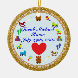 Grandson's Personalized Christmas Ornament