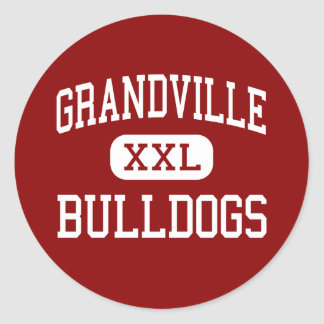 Grandville - Bulldogs - High - Grandville Michigan Classic Round Sticker