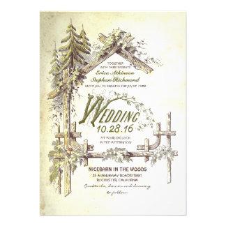 Grange dans les invitations rustiques de mariage e