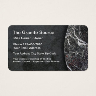 Granite And Stone Construction Business Card
