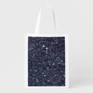 GRANITE BLUE-BLACK 1 REUSABLE GROCERY BAG