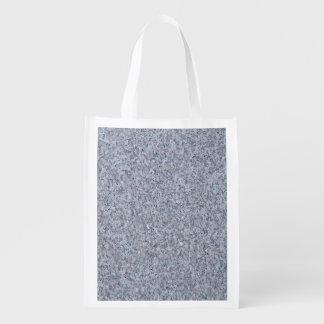 GRANITE BLUE-GREY REUSABLE GROCERY BAG