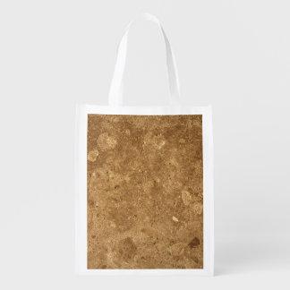 GRANITE BROWN 1 REUSABLE GROCERY BAG