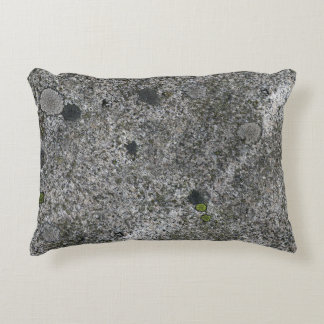 Granite Grey with Green Moss Decorative Pillow