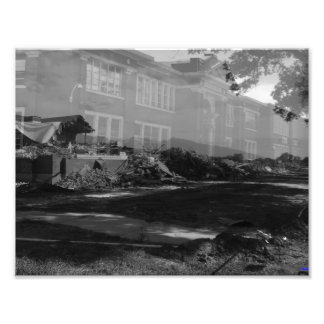 Granite High - Front, all B&W Photo Print