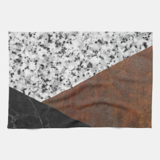Granite, marble, rusted iron abstract towels