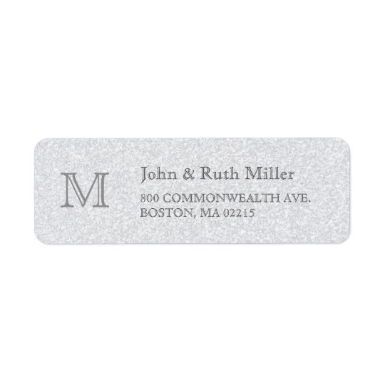 Granite Monogram Return Address Labels