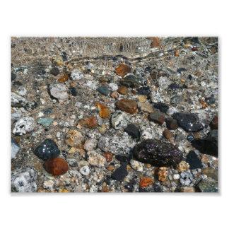 Granite Pebbles in Tenaya Lake Yosemite Nature Photo Print