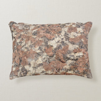 Granite Rock Texture --- Pink Black White - Decorative Pillow