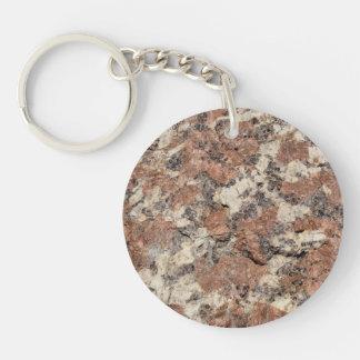 Granite Rock Texture --- Pink Black White - Keychain