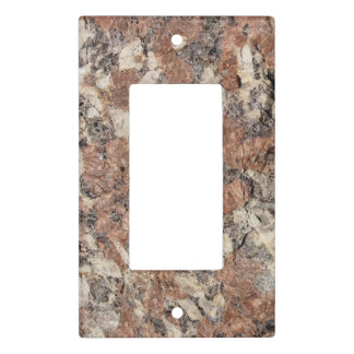 Granite Rock Texture --- Pink Black White - Light Switch Cover