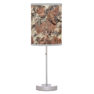 Granite Rock Texture --- Pink Black White - Table Lamp
