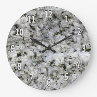 Granite Rock White with White Digits Wall Clock