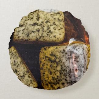 Granite Rocks   Cold Whiskey Round Pillow