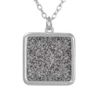 GRANITE ~ SILVER PLATED NECKLACE