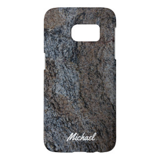 Granite stone red black texture samsung galaxy s7 case