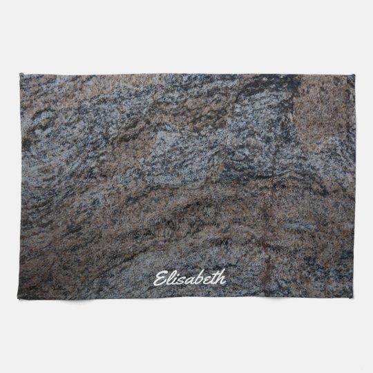 Granite stone red black texture towels