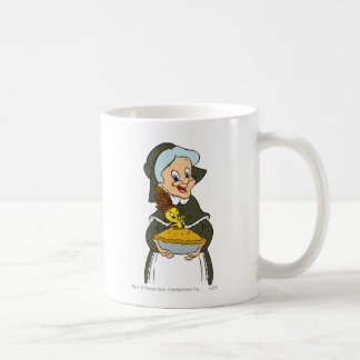Granny and Tweety Pie Classic White Coffee Mug