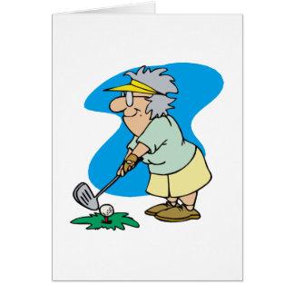 Granny Golfer Card