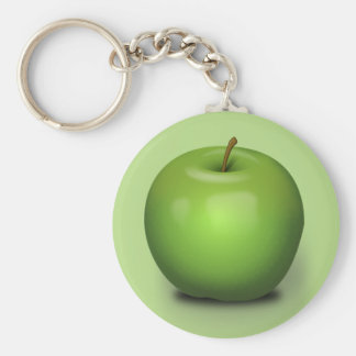 Granny Smith Apple Button Keychain