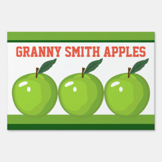 Granny Smith Apples Farm Stand Lg Yard Sign