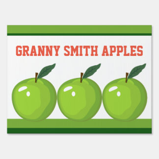 Granny Smith Apples Farm Stand Med Yard Sign