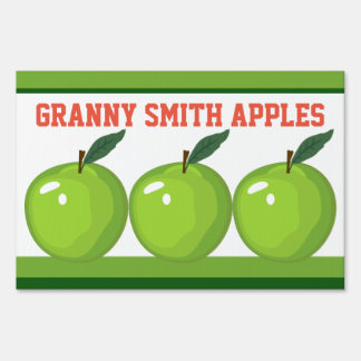 Granny Smith Apples Farm Stand Small Yard Sign