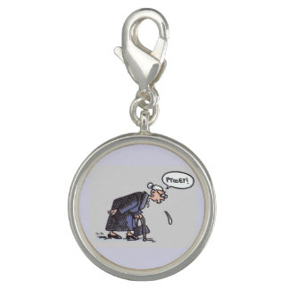 Granny Spitting! (with word bubble) charm