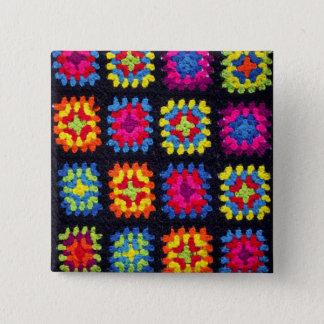 Granny Square Button - Afghan Crochet Button