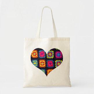 Granny Square Tote Bag - Crochet Tote Bag