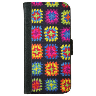 Granny Square Wallet Phone Case - Crochet Case