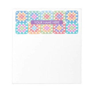 Granny Squares Crochet Notepad